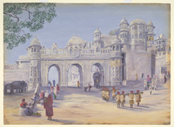 'Gate of the Palace.  Oodipore.  Janr. 1879'
